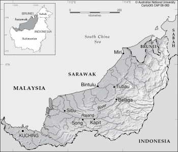 Sarawak - elevation