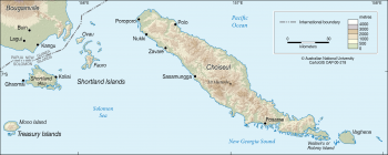 Choiseul and Shortland Islands