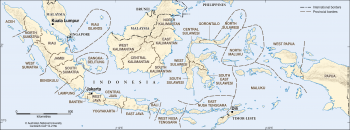 Indonesian provincial borders - 2013