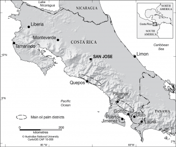Costa Rica - Oil Palm Districts