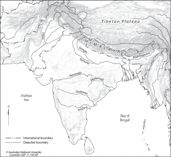 India relief and rivers