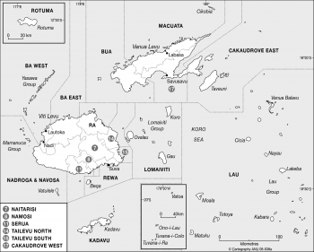 Fiji 1997 constituencies
