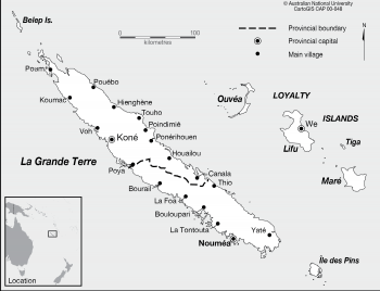 New Caledonia - provinces