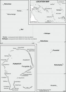 Tuvalu with location