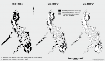 Forest cover of Philippines