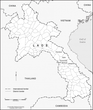 Laos - District borders