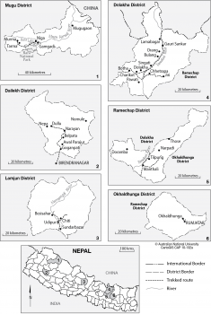 Select Nepal districts
