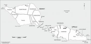Samoa-Traditional districts