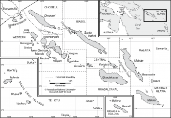 Solomon Islands with location map