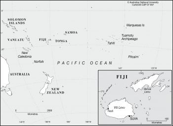 Fiji in the Pacific Ocean