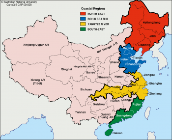 China coastal regions