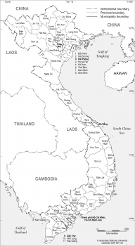 Vietnam - Provinces & Municipalities