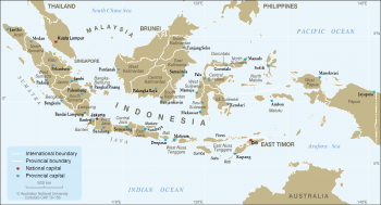 Indonesia - Provinces and capitals - 2013