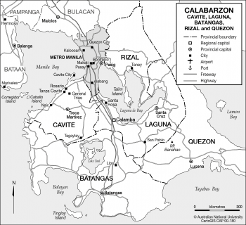The Calabarzon Region of Luzon, Philippines