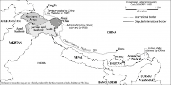 India-China disputed areas