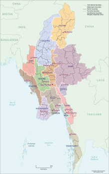 Myanmar 2010 boundaries
