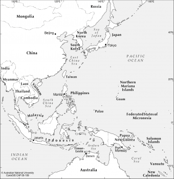 SE Asia to west Pacific