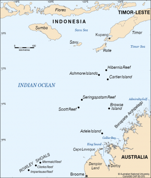 Bonaparte Archipelago and nearby islands and reefs.
