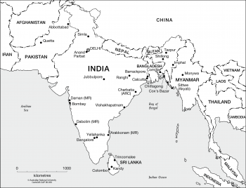 India and surrounds