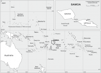 Samoa in the Pacific