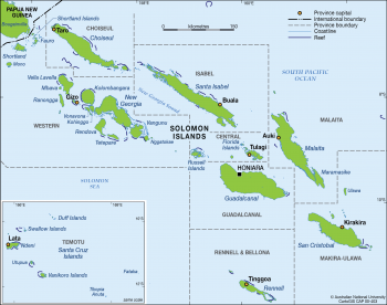 Solomon Island Provinces and capitals