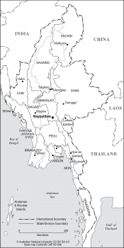 Myanmar (Burma) states
