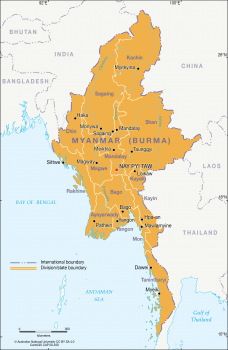 Divisions/states of Myanmar