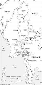 Myanmar (Burma) - Thailand border