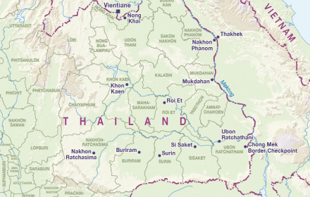 North East Thailand Cartogis Services Maps Online Anu