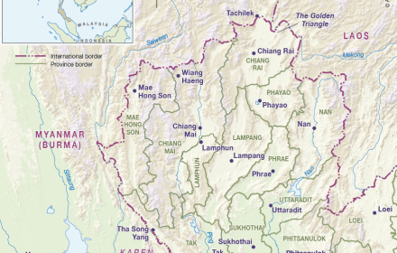 Phitsanulok Thailand Map.North West Thailand Cartogis Services Maps Online Anu