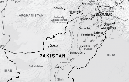 Pakistan base CartoGIS Services Maps Online ANU