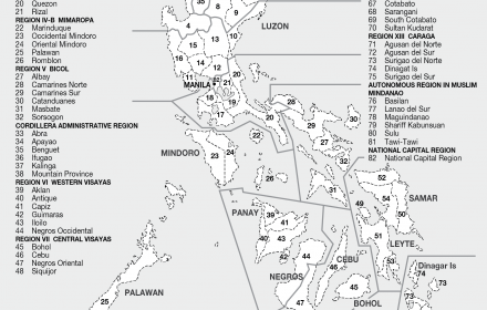 Regions of the Philippines  CartoGIS Services Maps Online  ANU