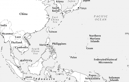 SE Asia to west Pacific - CartoGIS Services Maps Online - ANU