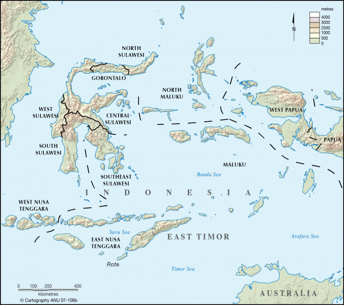 East Indonesia islands - CartoGIS Services Maps Online - ANU