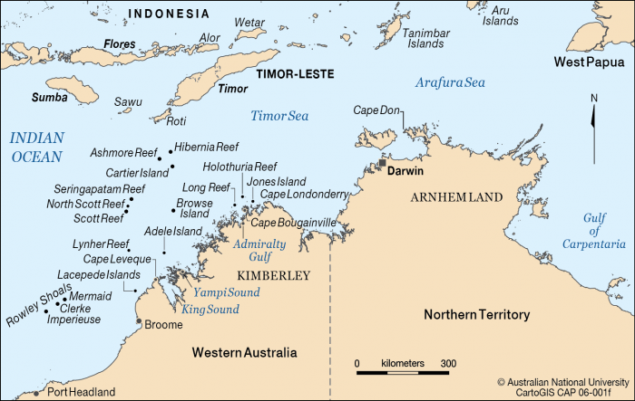 Map Of North West Australia – Map of North Australia