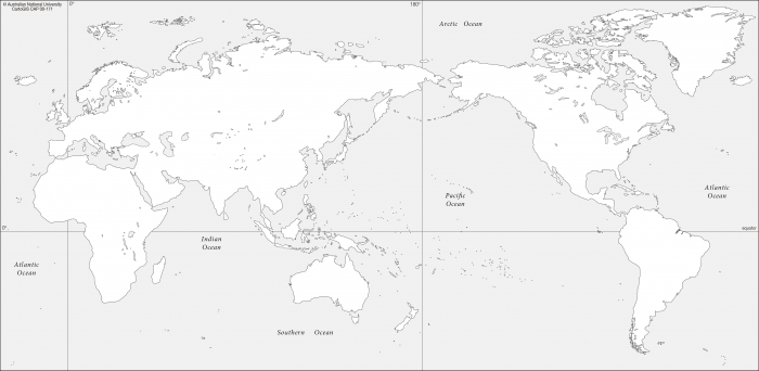Map Of The World No Borders.World With No Borders Cartogis Services Maps Online Anu