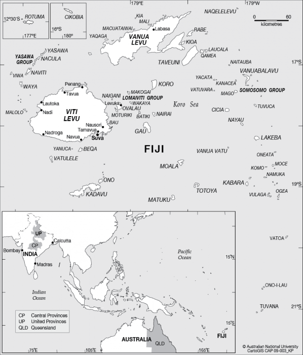 Fiji Australia And India CartoGIS Services Maps Online ANU - Map of united provinces india