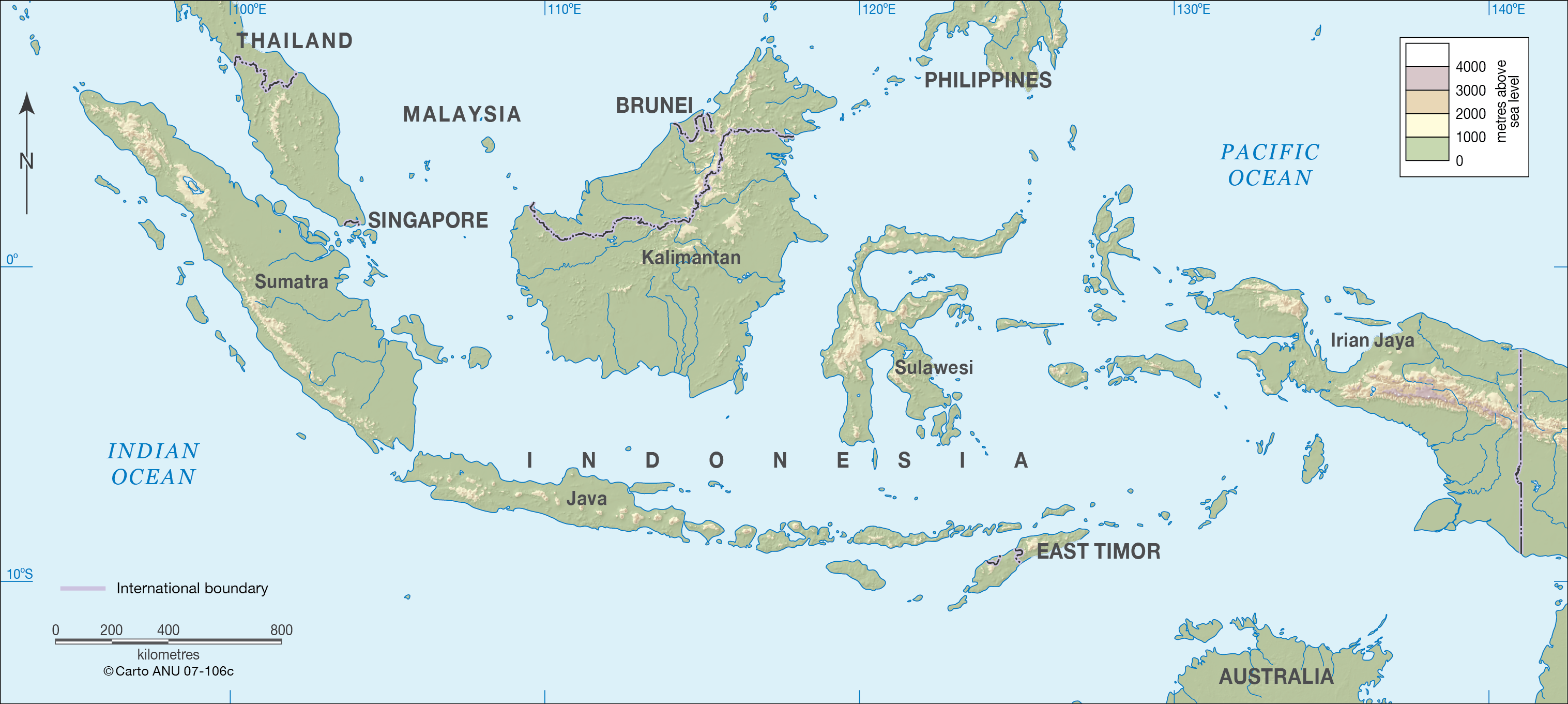 Indonesia CartoGIS Services Maps Online ANU - Indonesia map