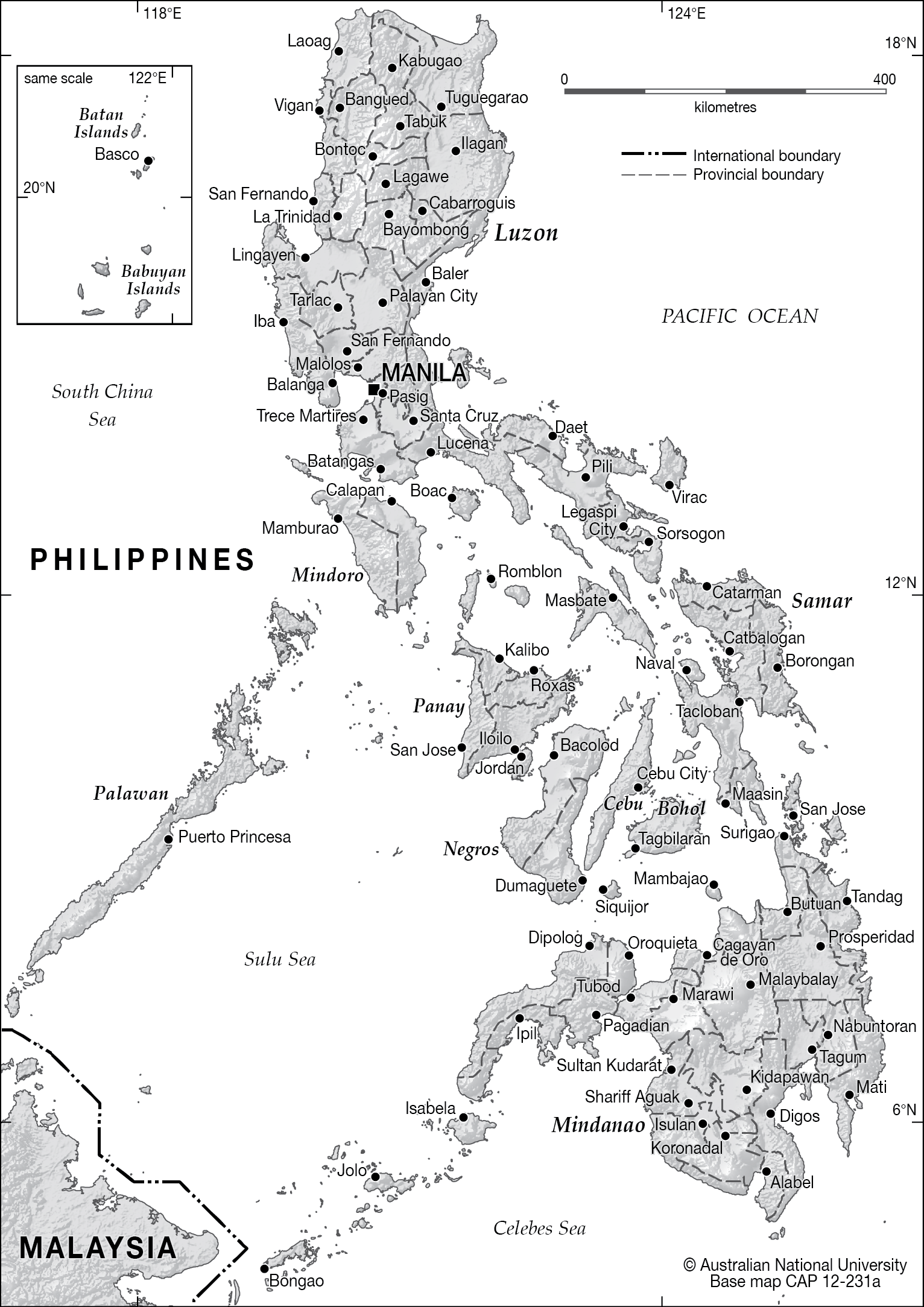 Philippines Map Black And White.Philippines Administration Base Cartogis Services Maps Online Anu