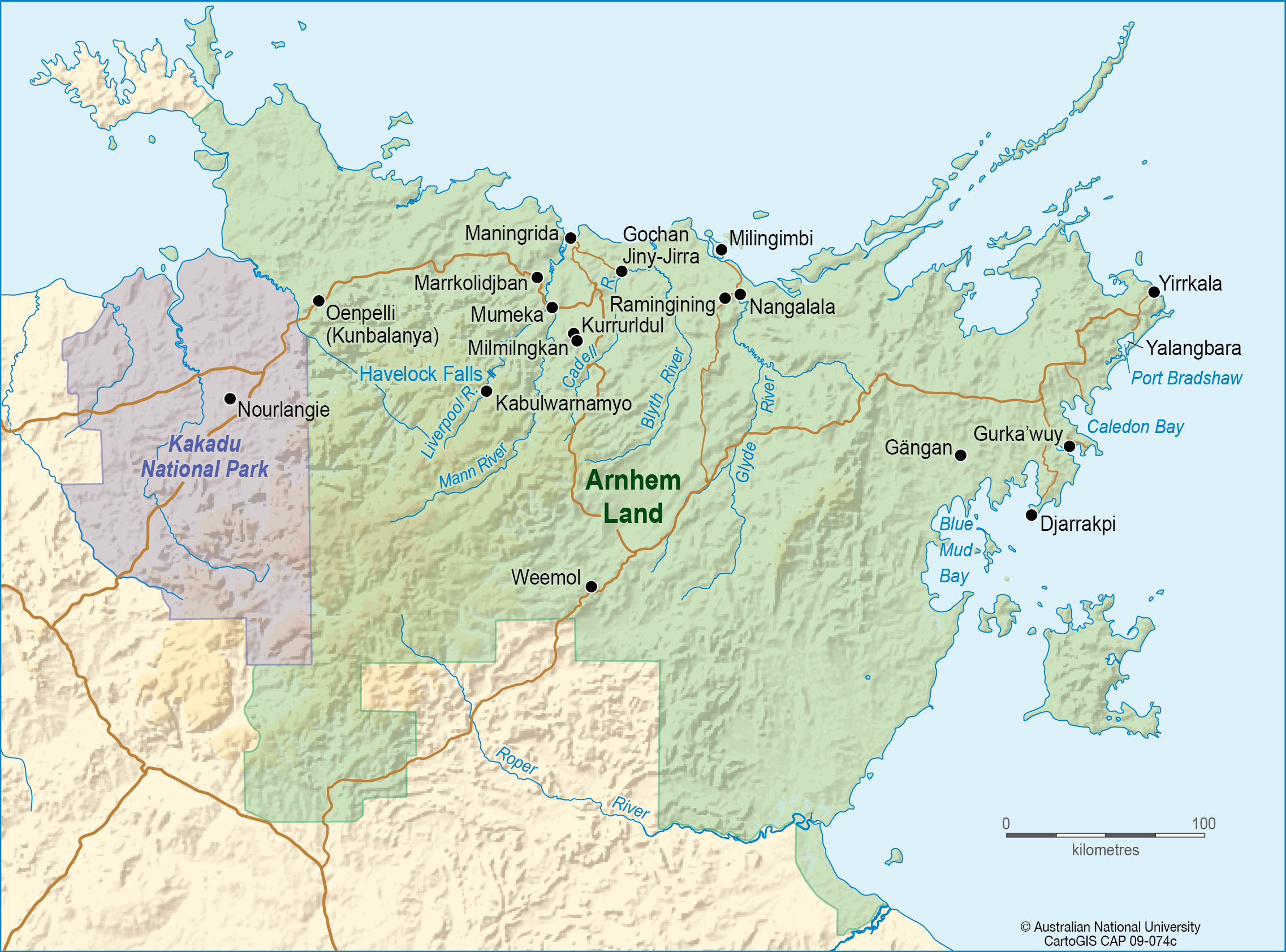 Arnhem Land CartoGIS Services Maps Online ANU