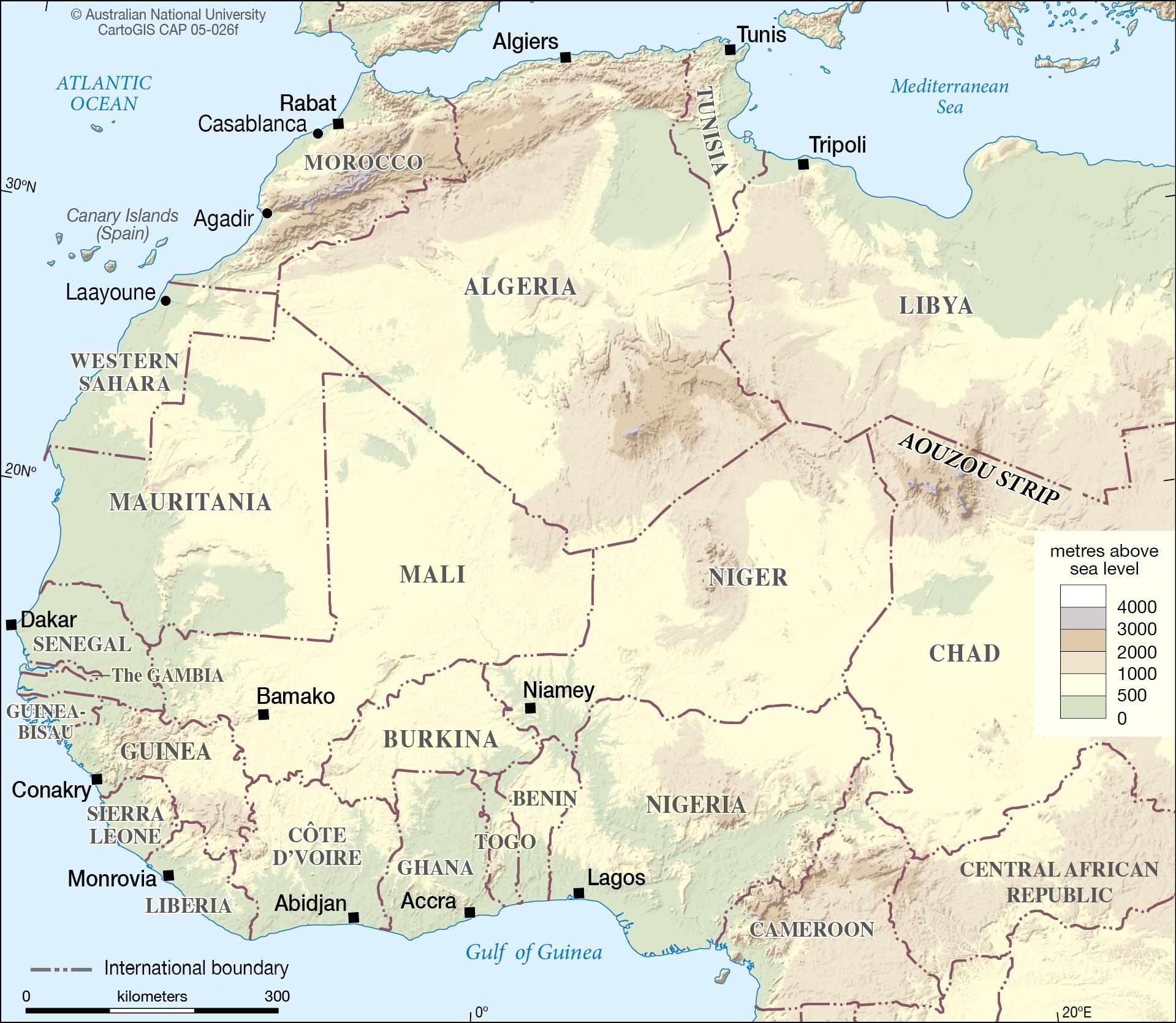 Northern Africa - CartoGIS Services Maps Online - ANU