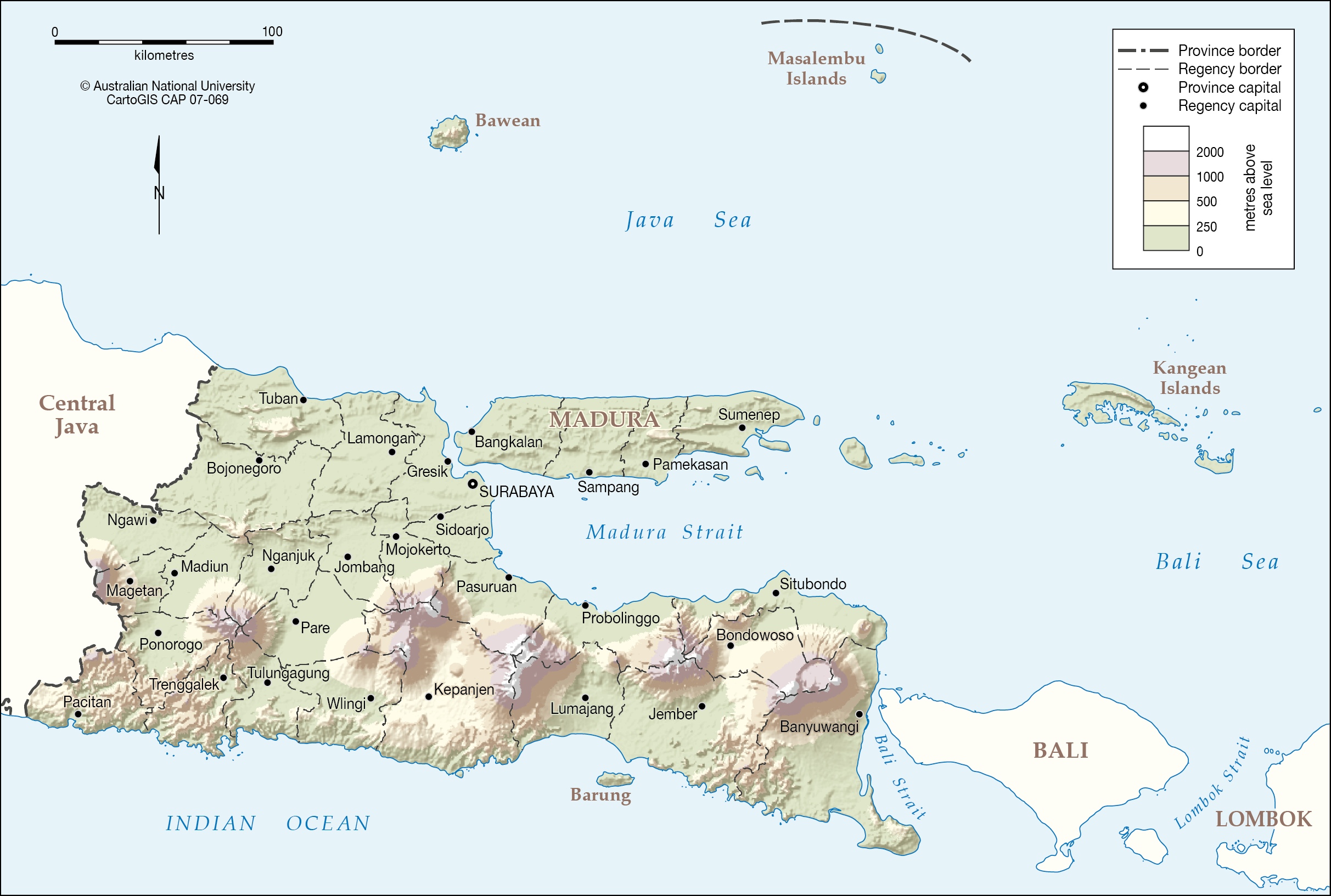 East java 2007 cartogis services maps online anu elevation map png gumiabroncs Images