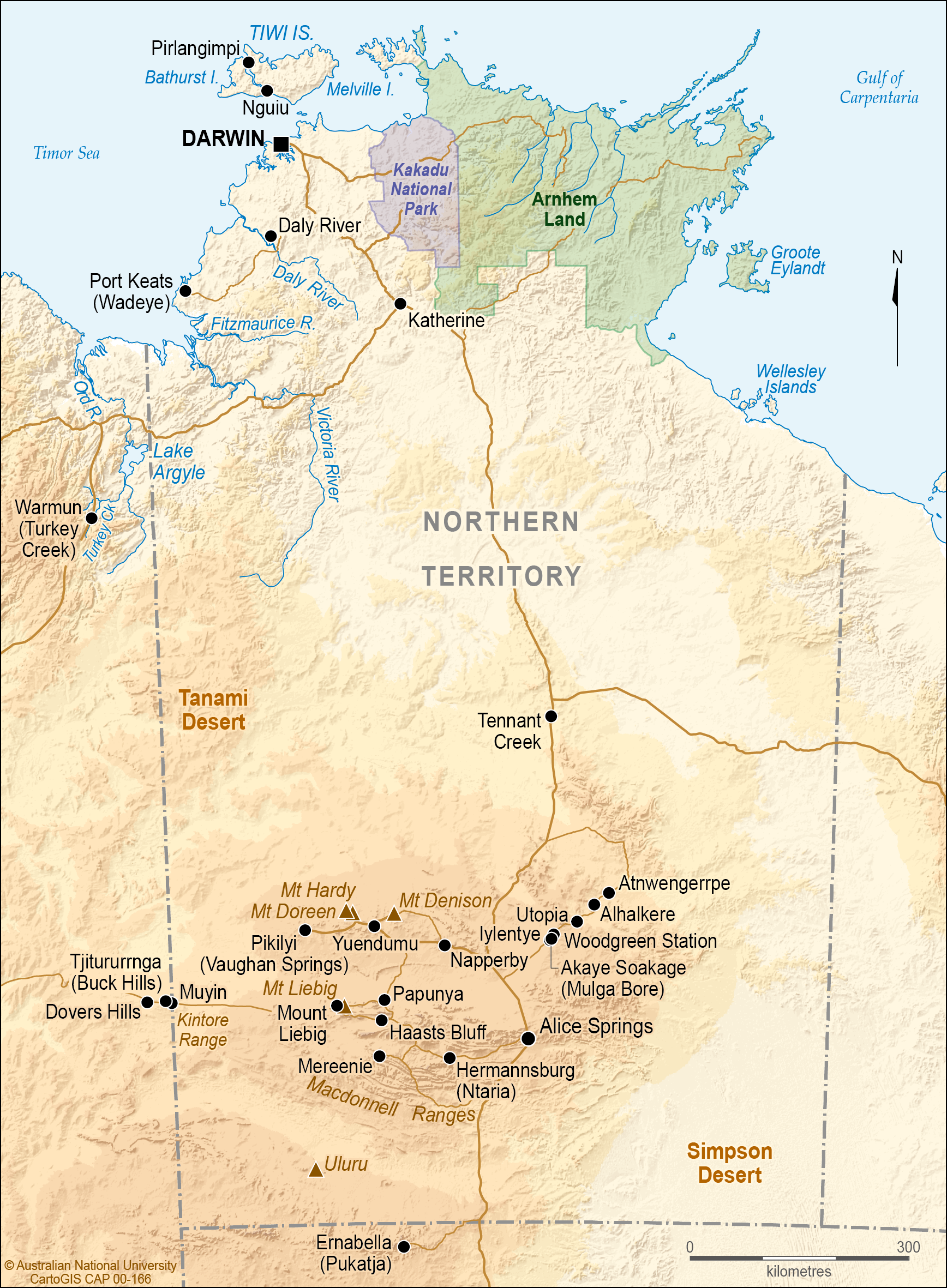 Northern Australia Map.Macdonnell Ranges Northern Territory Cartogis Services Maps
