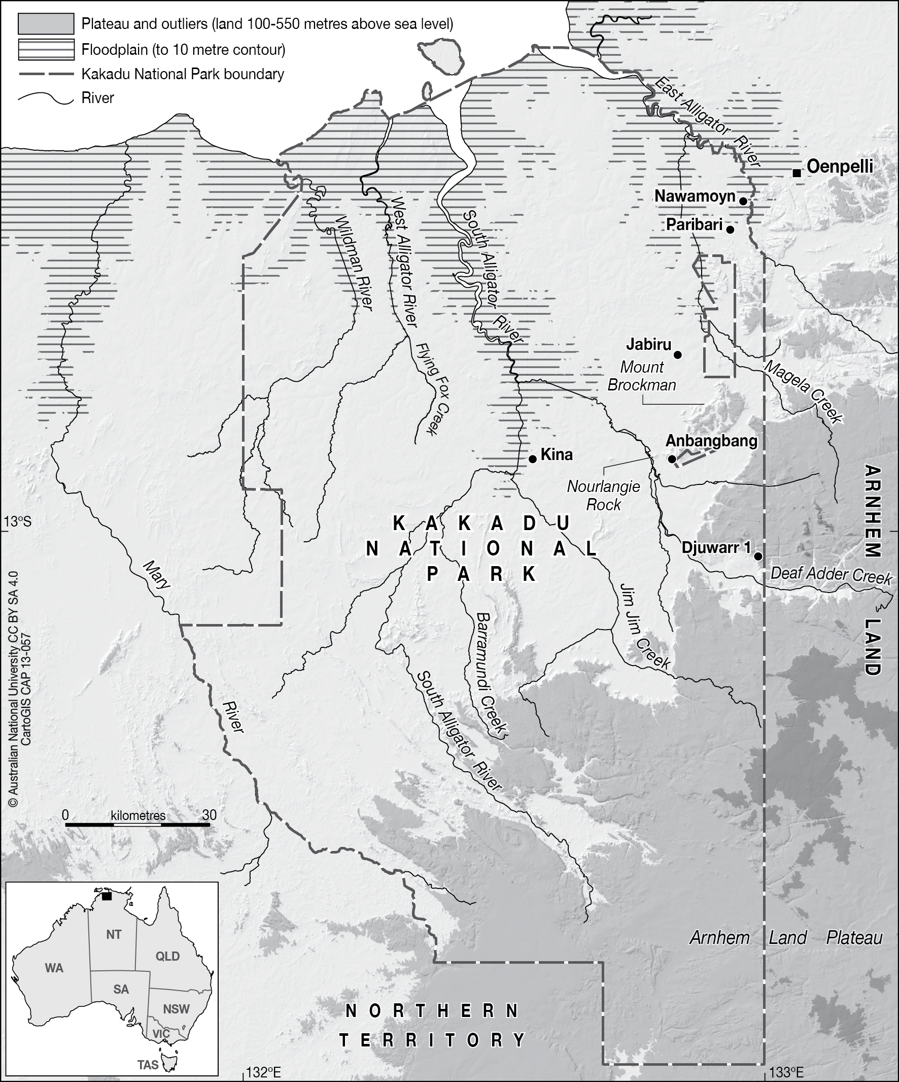 Map Of Australia Kakadu National Park.Kakadu National Park Cartogis Services Maps Online Anu
