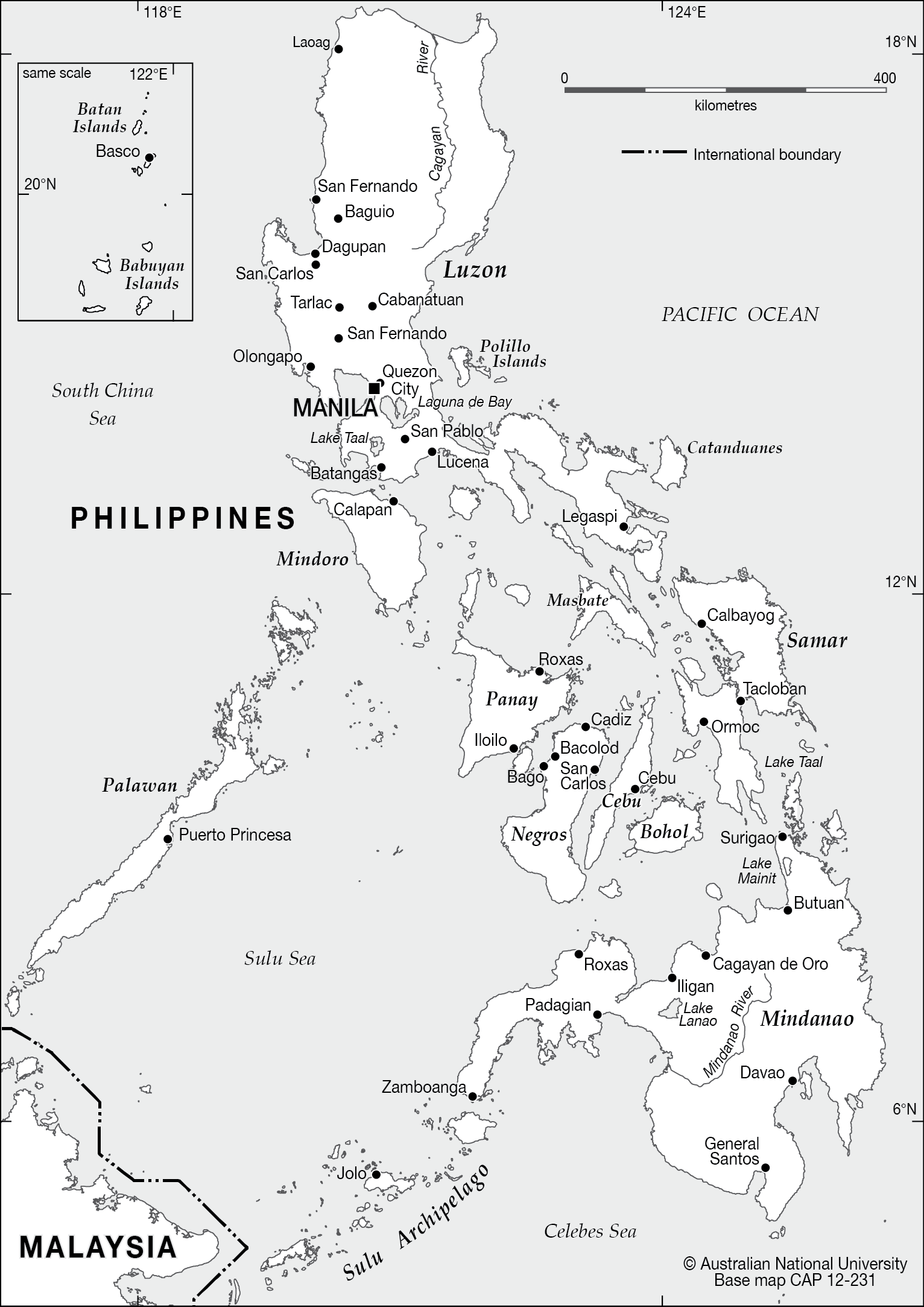 Philippines Map Black And White.Philippines Base Cartogis Services Maps Online Anu