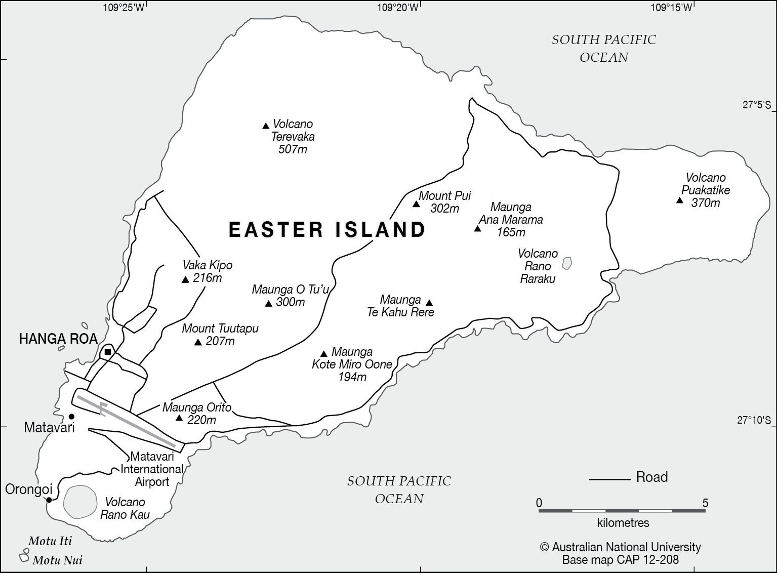 Easter Island base CartoGIS Services Maps Online ANU