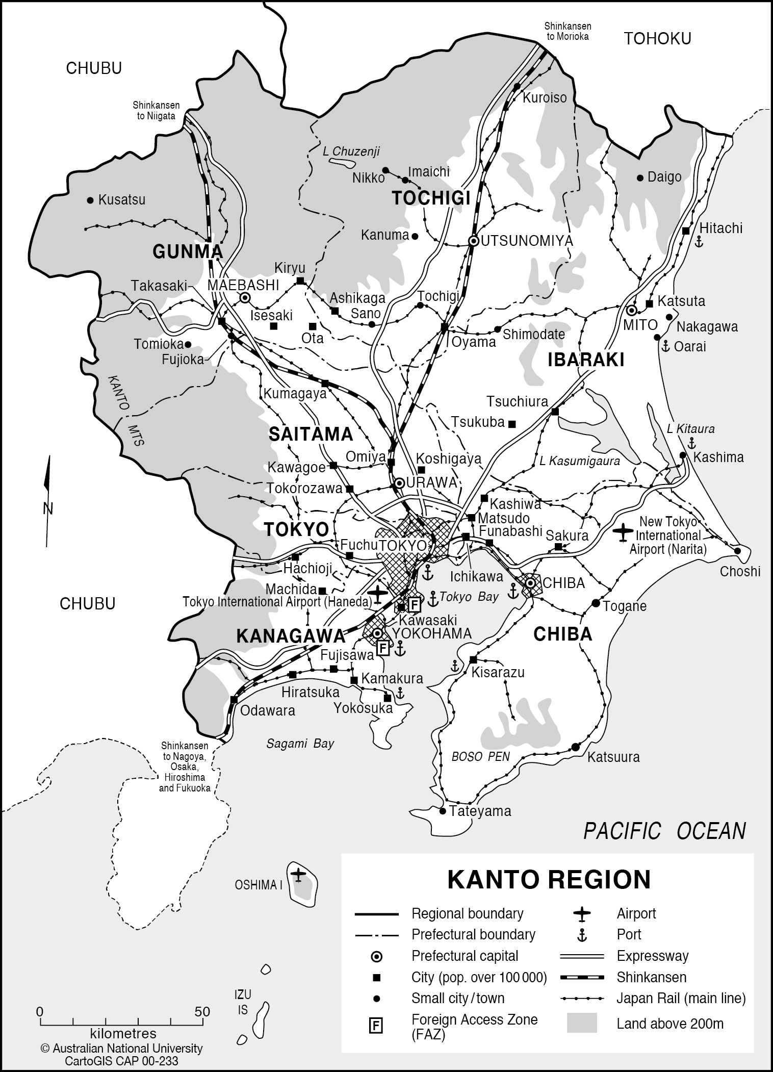 Kanto Region CartoGIS Services Maps Online ANU - Isesaki map