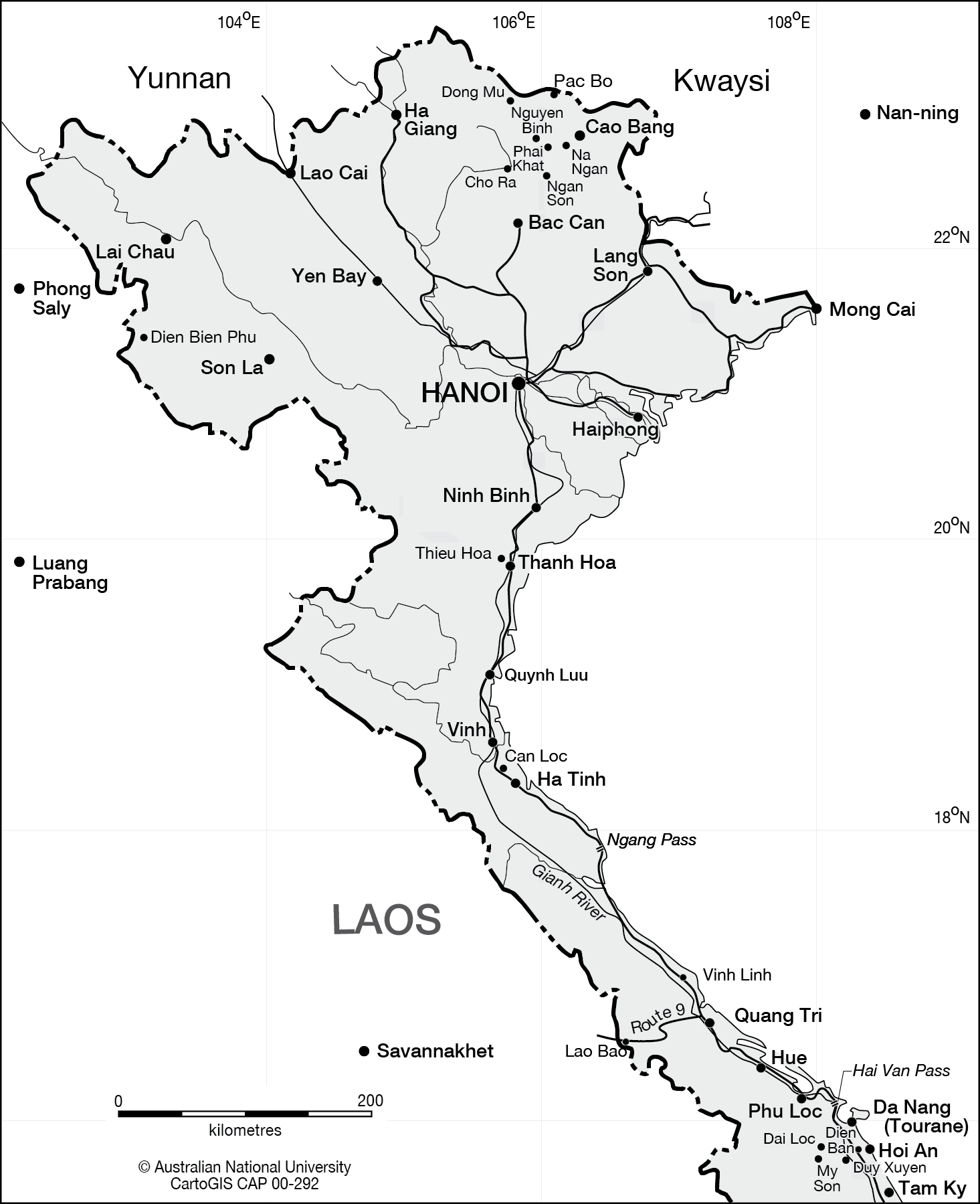 Northern Vietnam Map.Northern Vietnam Cartogis Services Maps Online Anu