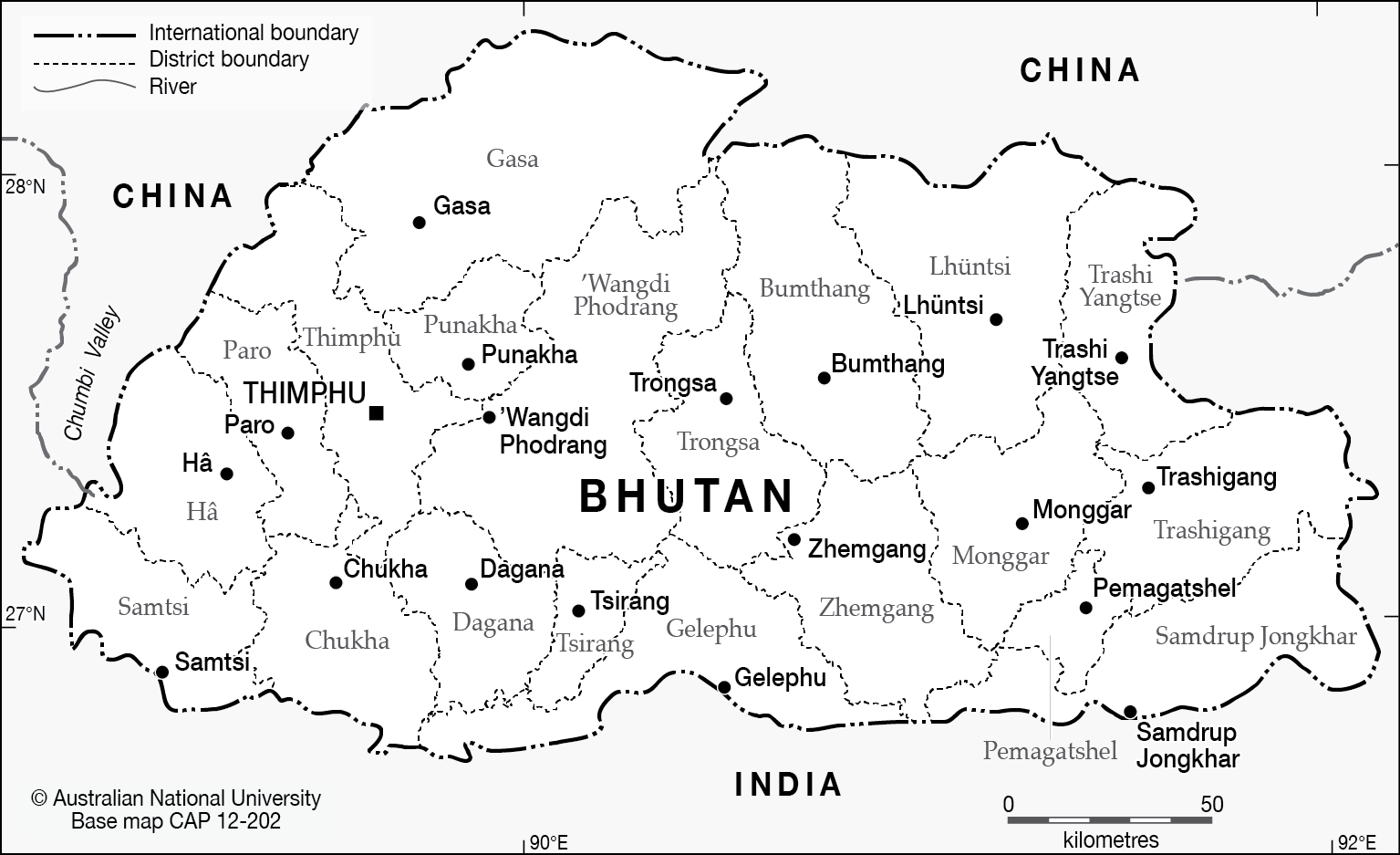 Bhutan base cartogis services maps online anu kb elevation map png 188 mb gumiabroncs Choice Image