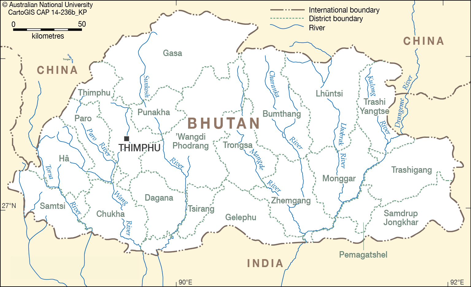 bhutan rivers  cartogis services maps online  anu - map  png